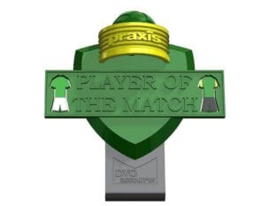 SC Praxis Player Of The Match Award Logo